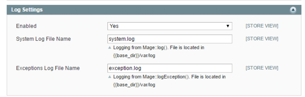 WHAT IS THE DIFFERENCE BETWEEN SYSTEM.LOG AND EXCEPTION.LOG IN MAGENTO - Log Settings