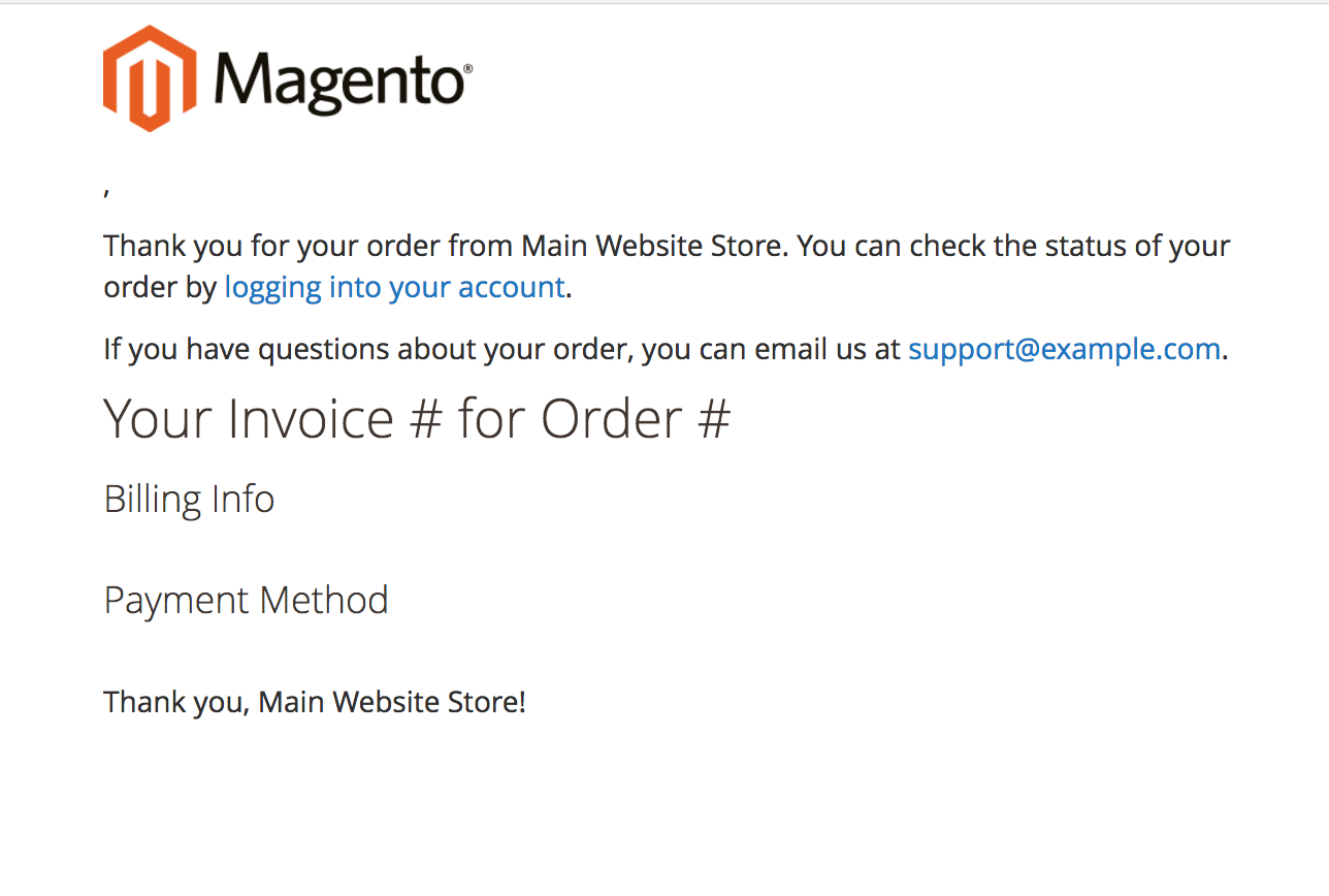 MAGENTO 2 TRANSACTIONAL EMAIL TEMPLATES - New Invoice