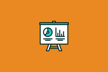 Marketing Dashboard on an easel with graphs and charts