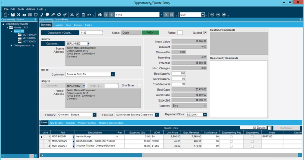 Manhattan Warehouse Management Software Screenshot