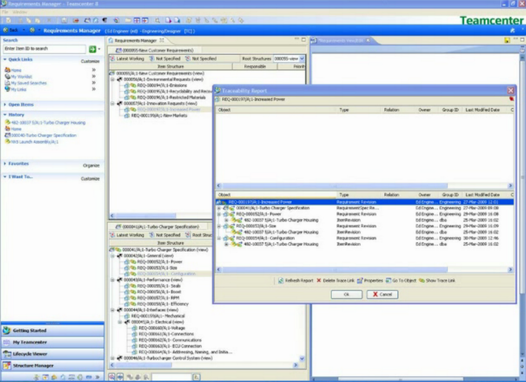 Siemens Teamcenter - PLM Software - screenshot