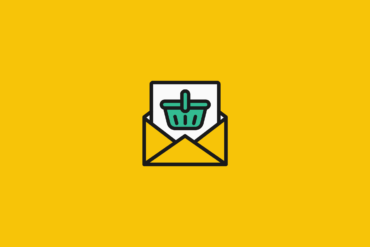illustration of an open envelope with a shopping cart image on the letter inside