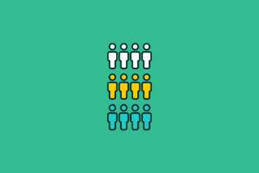 illustration of an audience segmented into groups