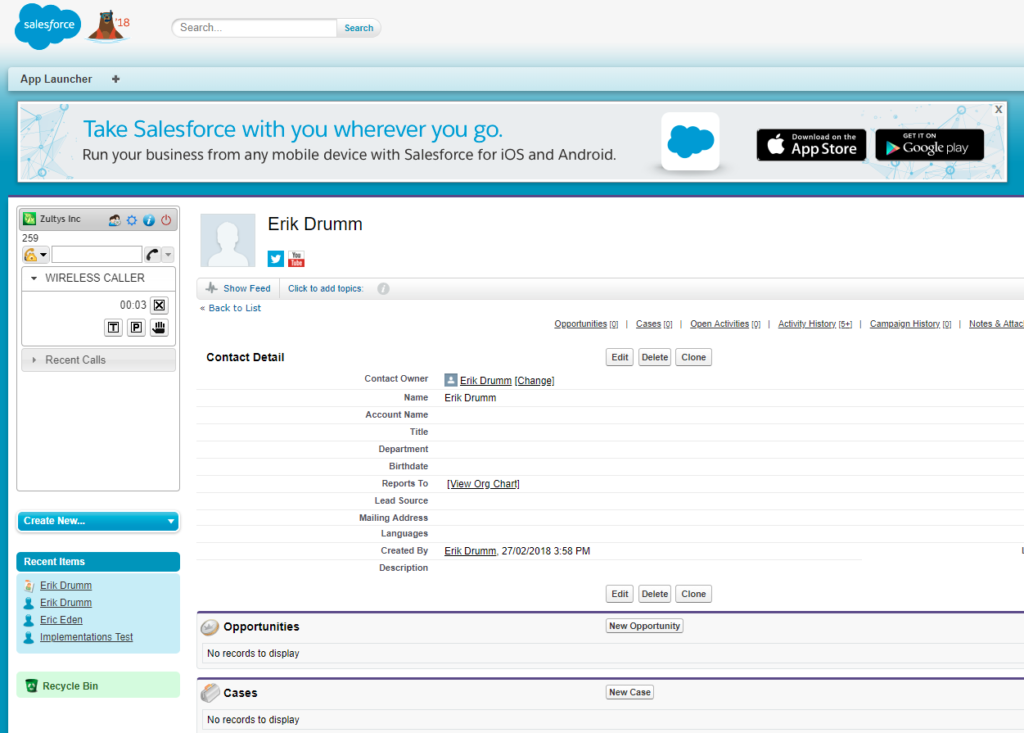Screenshot Of Salesforce