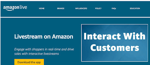 Amazon Live Example for Global Ecommerce Trends Screenshot