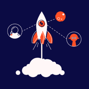 rocket ship taking off for ecommercr crm strategy