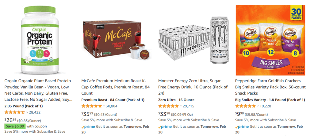 subscription example for food ecommerce trends